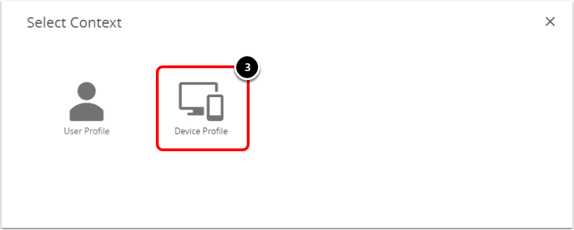 Select the device profile when configuring BitLocker for Windows 10.