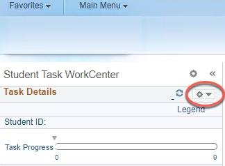 Highlight of Task Details caret