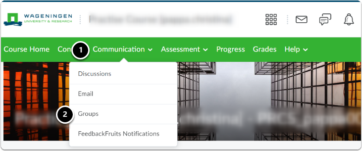 Communication | Email through Group tool