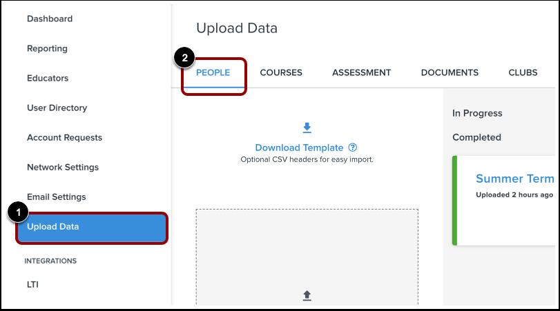 Open Upload Data