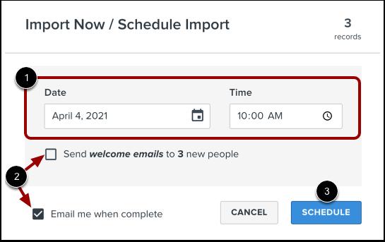 Schedule Import