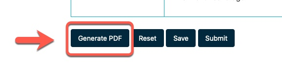 Arrow pointing to Generate PDF button