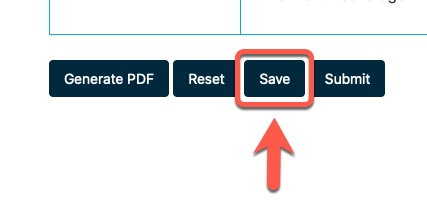Arrow pointing to Save button