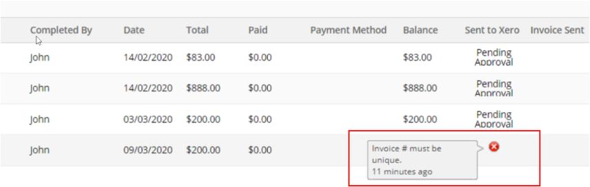 """""""Invoice # must be unique"""" error"""