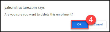 Clicking OK in the confirmation pop-up with complete the deletion process.