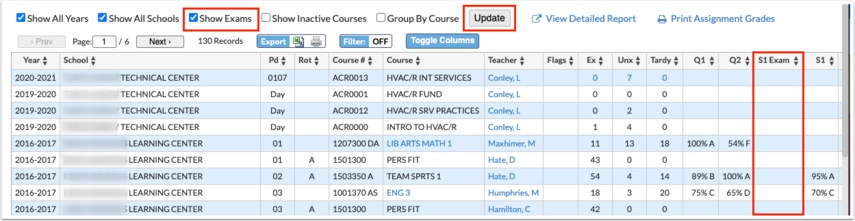 Course History