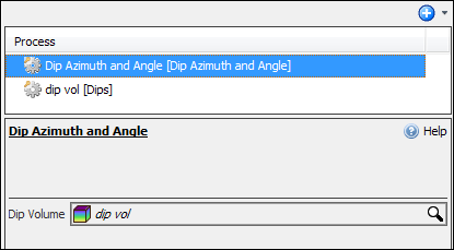 Create Dip azimuth and angle process