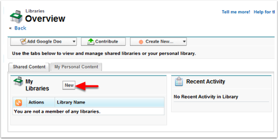 Step 1: Creating a New Library
