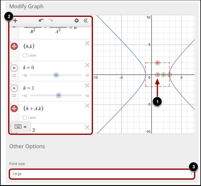 Modify Graph and More Options