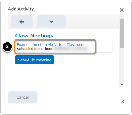 Step 3 - add meeting to content view