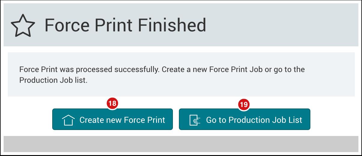 PMS WebGui :: Force Print Job