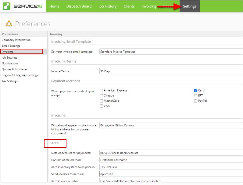 ServiceM8 - Preferences - Google Chrome