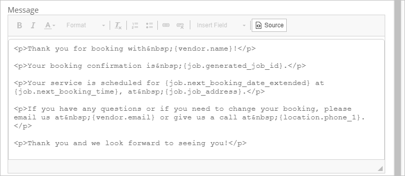 Email Template Source Code