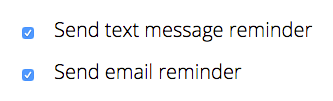 You can choose to send text messages, emails, or both
