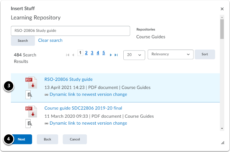 Learning Repository | Course guide