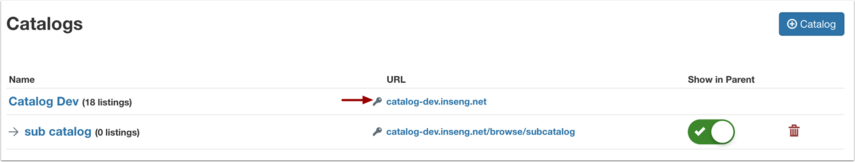 View Catalogs that Require Authentication