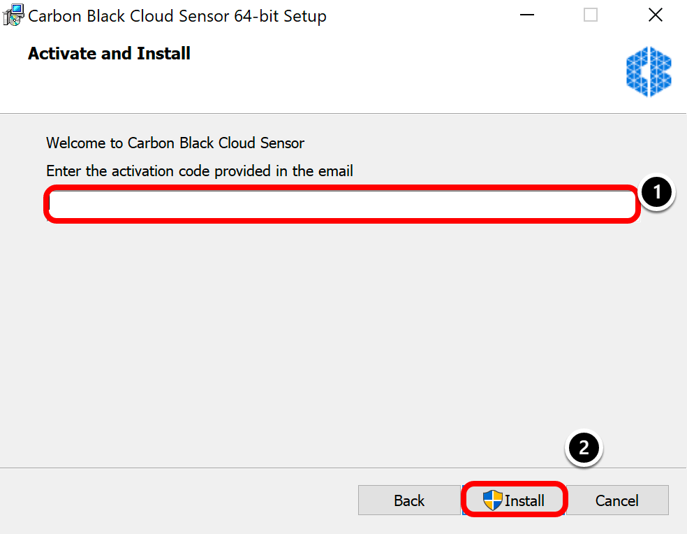 Deploying Carbon black sensor on Windows 10
