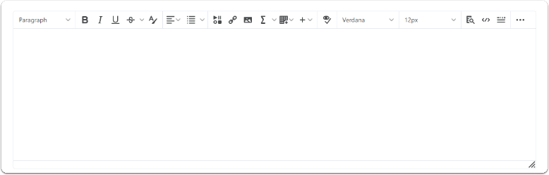 Overview of the Editor