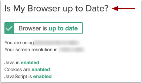 Check Browser Compatibility and Computer Requirements
