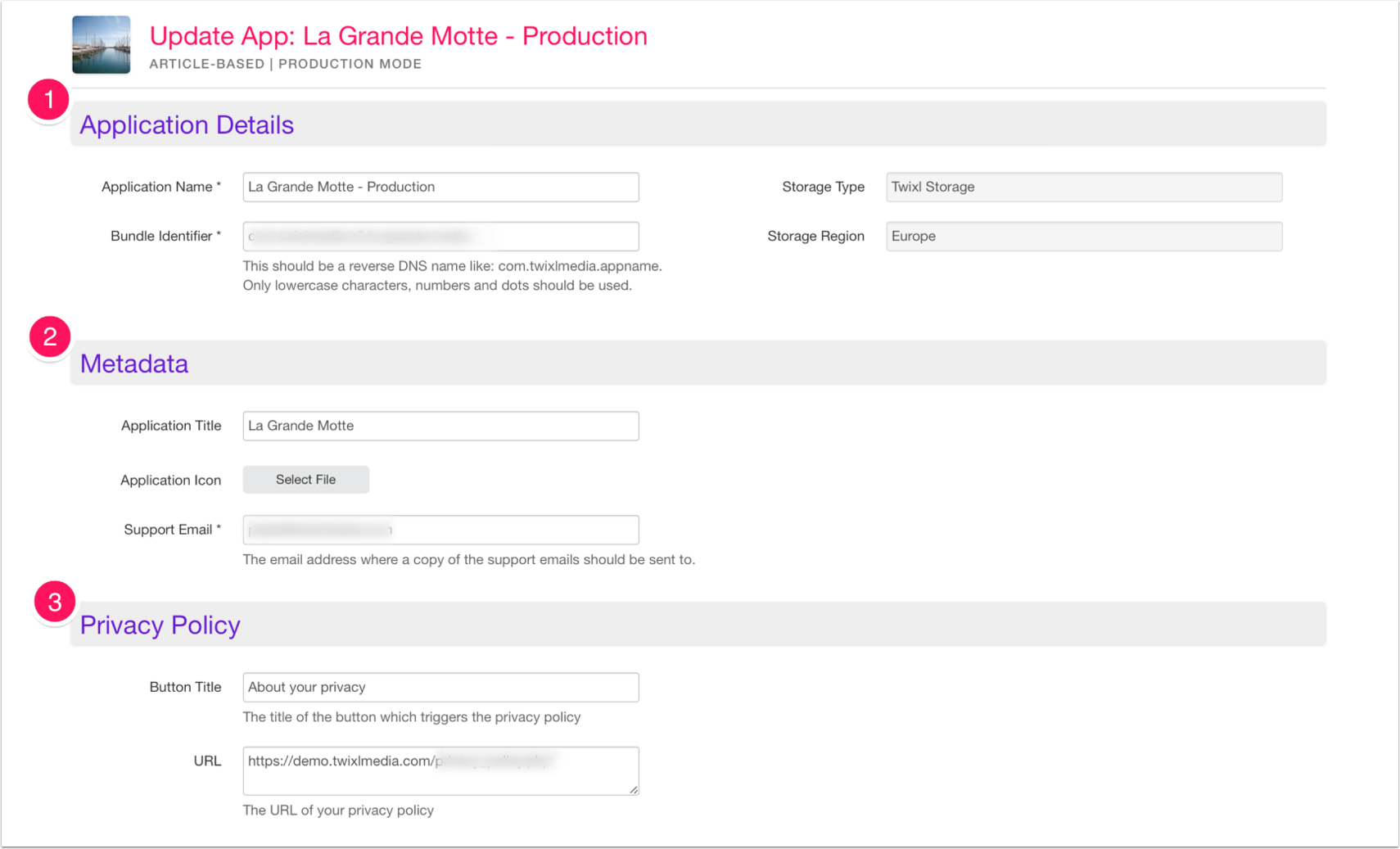 Update: La Grande Motte - Production - Twixl Distribution Platform