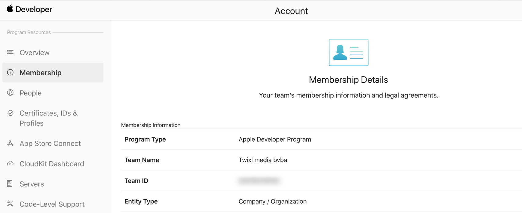 Account - Apple Developer