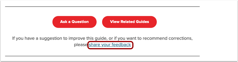 How do I leave feedback on a lesson?