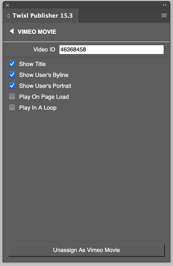 YouTube & Vimeo Options