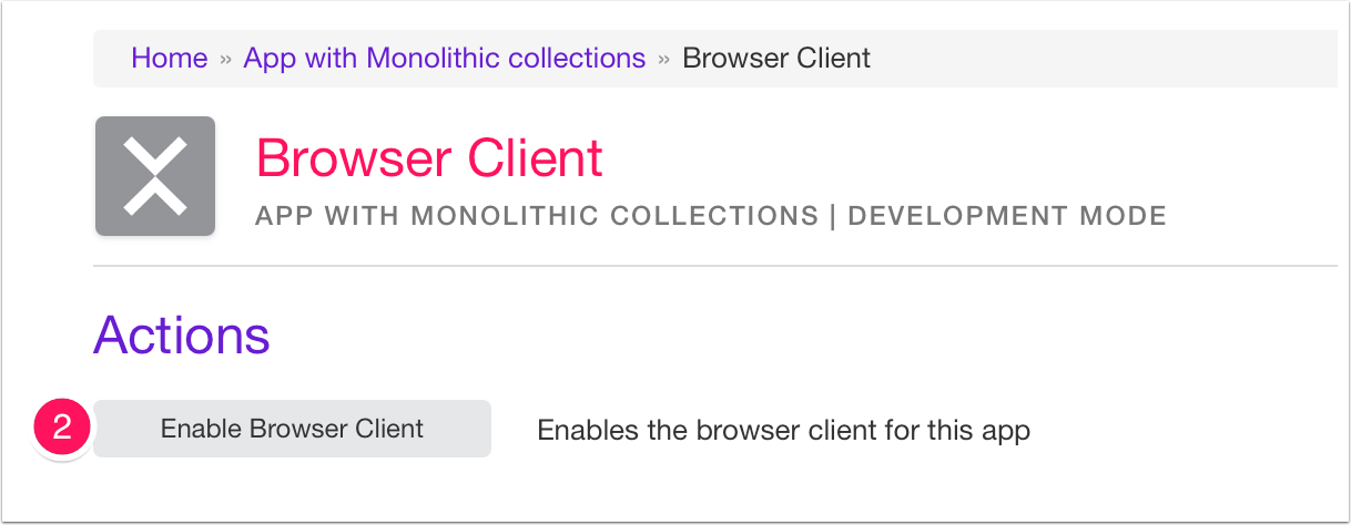 Activate The Browser Client