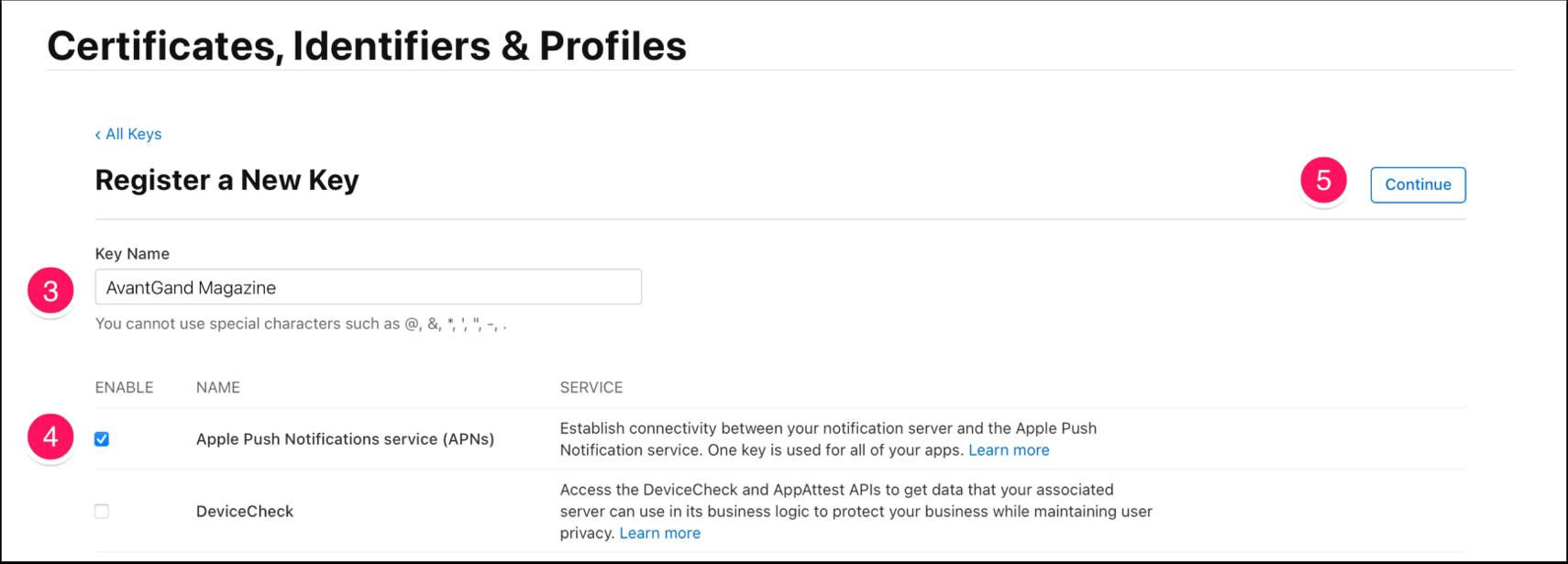 Certificates, Identifiers & Profiles - Apple Developer