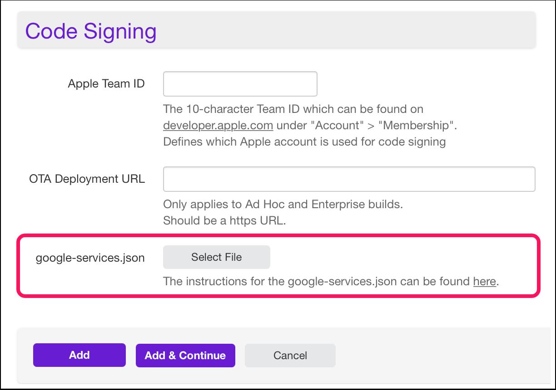 Add Build Setting - Twixl Distribution Platform