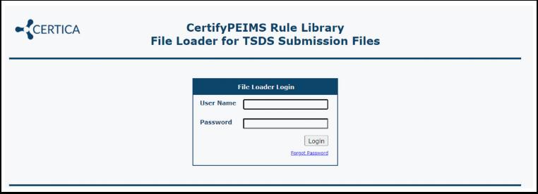 Log into the File Loader
