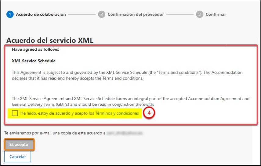 Test · Aceptar el Acuerdo de Servicio de XML - Google Chrome