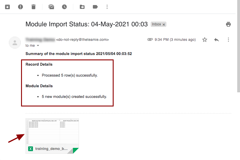 Module Import Status: 04-May-2021 00:03 - nikhil@theteamie.com - Teamie Pte Ltd Mail