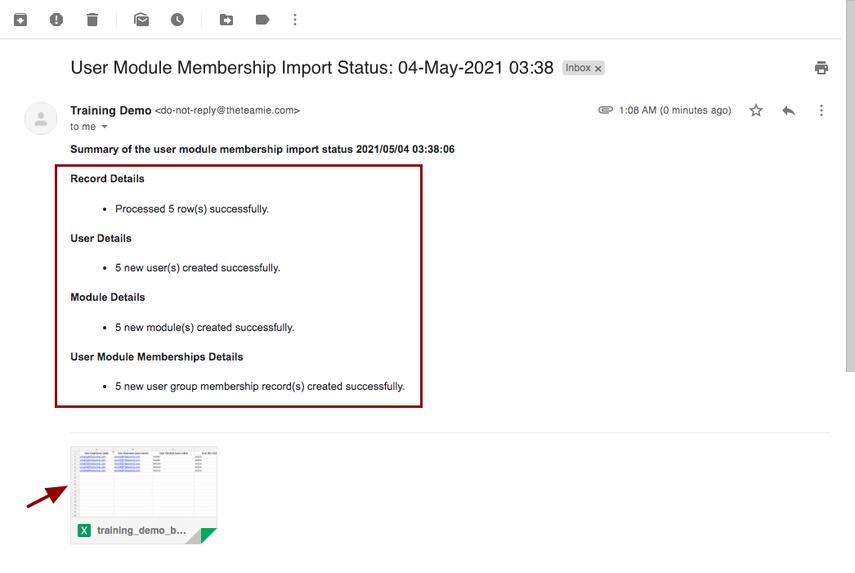 User Module Membership Import Status: 04-May-2021 03:38 - nikhil@theteamie.com - Teamie Pte Ltd Mail