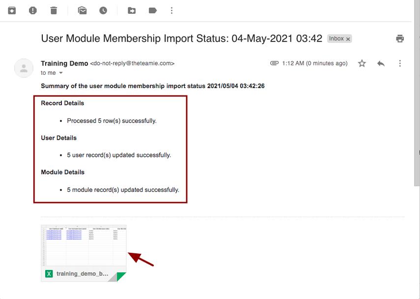 User Module Membership Import Status: 04-May-2021 03:42 - nikhil@theteamie.com - Teamie Pte Ltd Mail