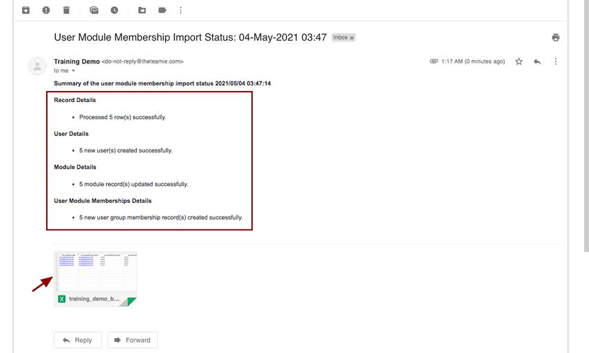 User Module Membership Import Status: 04-May-2021 03:47 - nikhil@theteamie.com - Teamie Pte Ltd Mail