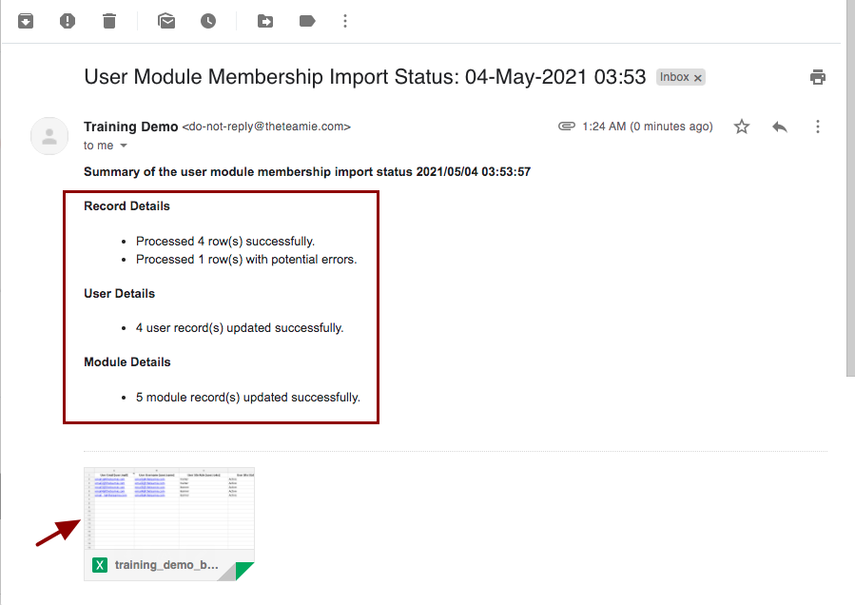 User Module Membership Import Status: 04-May-2021 03:53 - nikhil@theteamie.com - Teamie Pte Ltd Mail