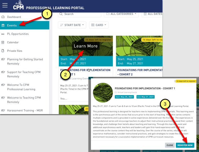 CPM Professional Learning Portal