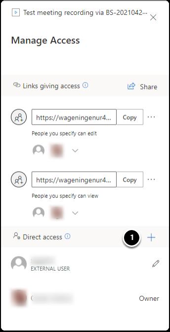 Direct access tab
