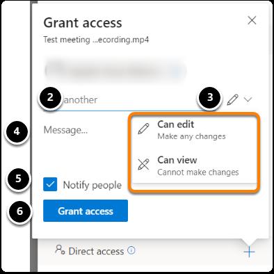 Grant direct access