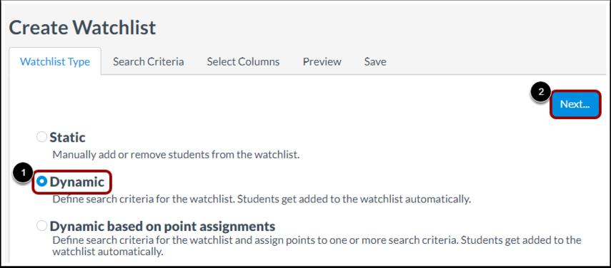 Select Dynamic Watchlist