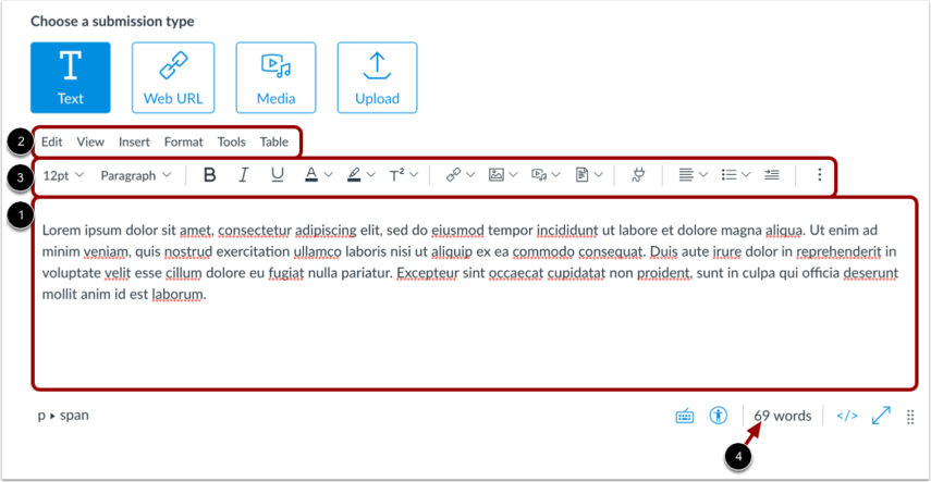 Draft Text Entry