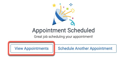 Highlight of View Appointments button