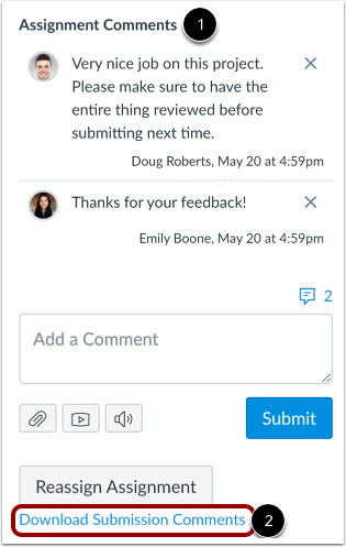Download Submission Comments