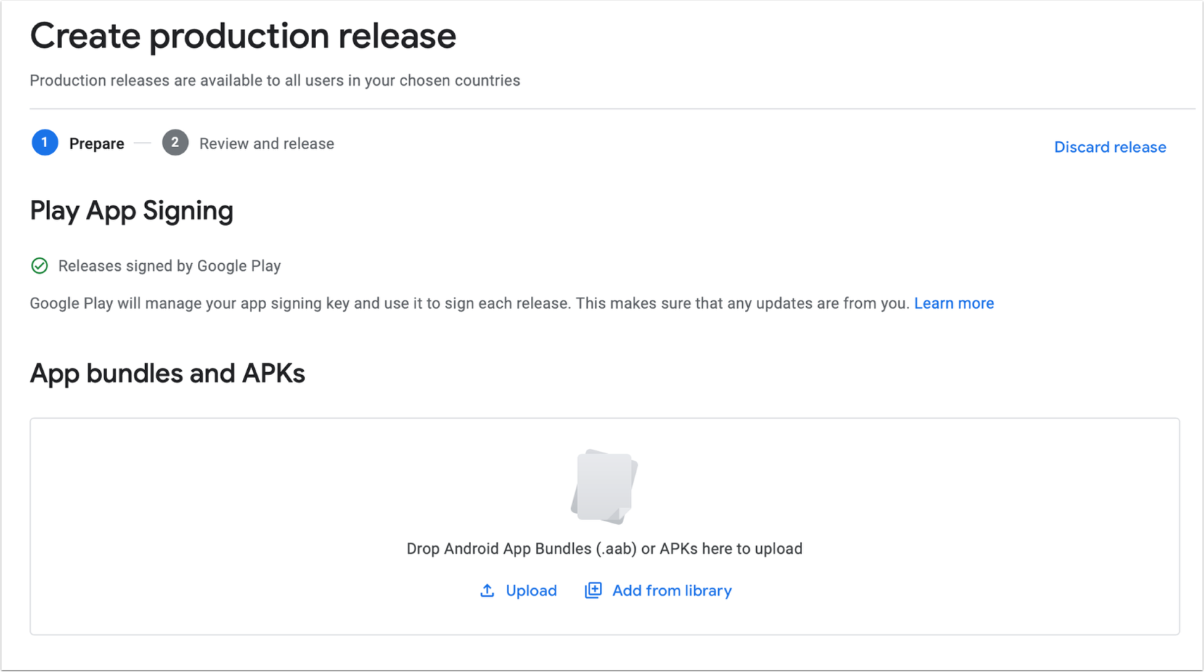 Create new release