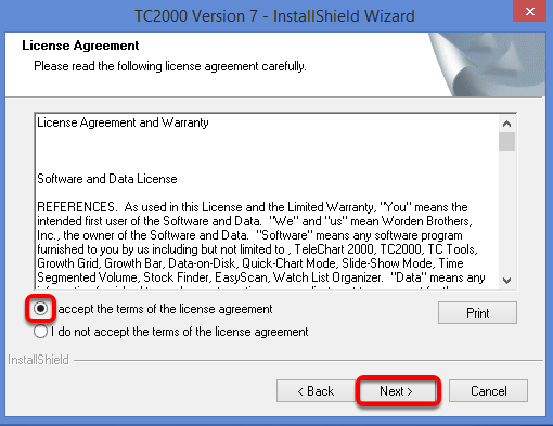 Read and agree to the License Agreement.