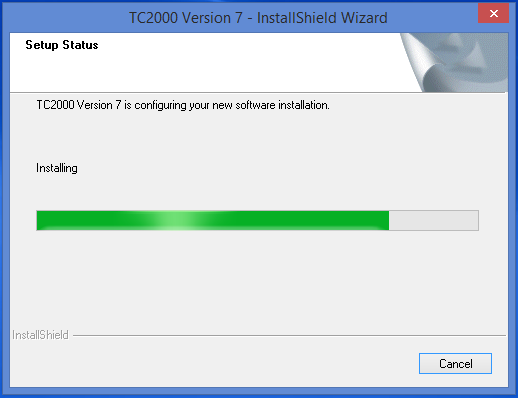 Wait for the install to complete.