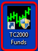 17. Double click the TC2000 Funds Icon on your desktop to launch TC2000 Mutual Funds.