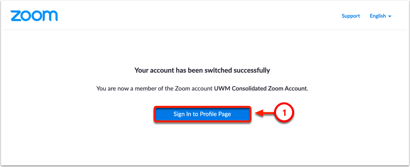 Sign In to Profile Page
