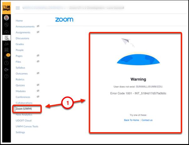 Zoom error message